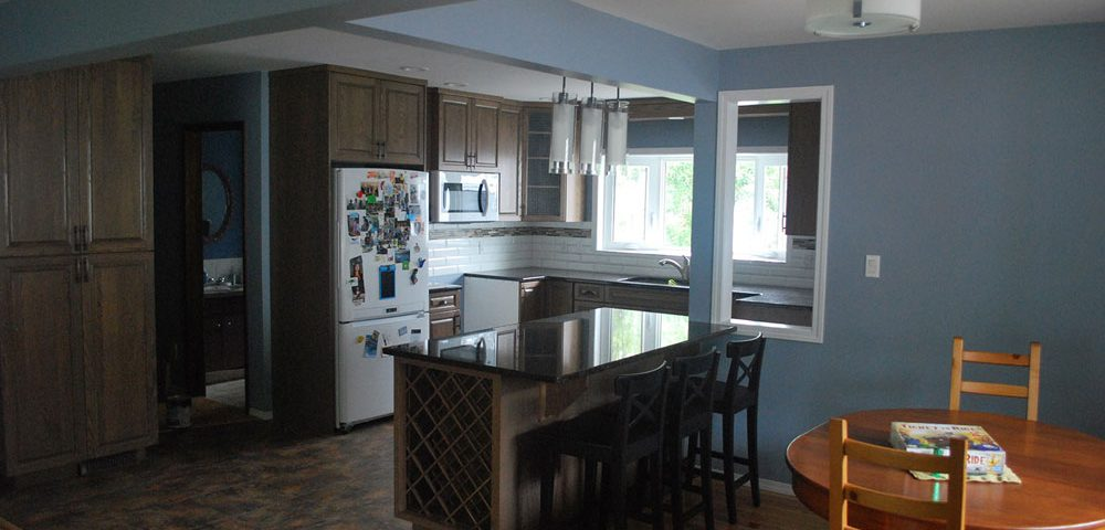 Sherwood Park Kitchen Renovation with Island